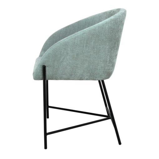 PETUNIA VERDE AGUA Silla estilo Contemporáneo con tapiazado textil. Encuéntrala en MisterWils. Más de 4000m² de exposición y almacén.