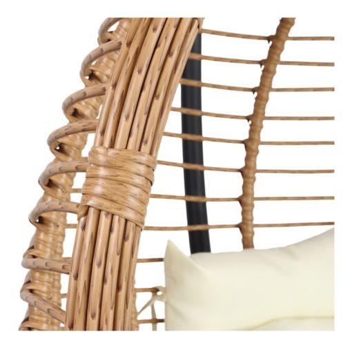 CORSICA Silla colgante tipo Egg Chair de rattan sintético con soporte incluido. Encuéntrala en MisterWils. Más de 4000m² exposición y almacén3