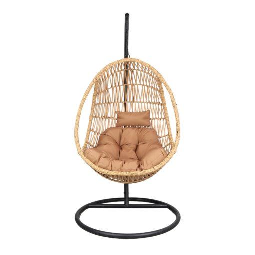 ORUGA Silla colgante tipo Egg Chair de rattán sintético con soporte incluido. Encuéntrala en MisterWils. Más de 4000m² exposición y almacén2