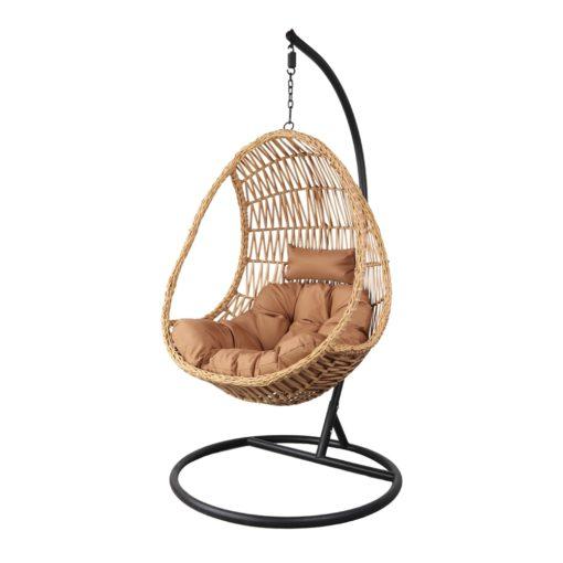 ORUGA Silla colgante tipo Egg Chair de rattán sintético con soporte incluido. Encuéntrala en MisterWils. Más de 4000m² exposición y almacén1