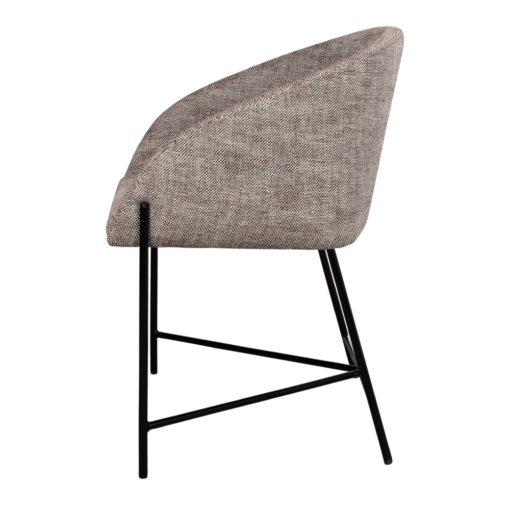 PETUNIA GRIS Silla estilo Contemporáneo con tapizado textil color gris. Encuéntrala en MisterWils. Más de 4000m² de exposición y almacén.