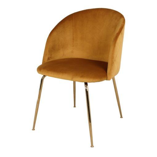 LUPIN CURRY Silla estilo Nórdico Contemporáneo en acero y terciopelo. Encuéntrala en MisterWils. Más de 4000m² de exposición y almacén.
