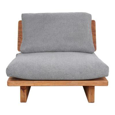 KUBU 1PL Sofá de madera de pino reciclado con cojines tapizados en textil. Encuéntralo en MisterWils. Más de 4000m² de exposición y almacén.