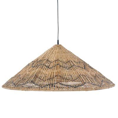 MAHALIA Pantalla para lámpara de techo fabricada en rattan natural. Encuéntrala en MisterWils. Más de 4000m² de exposición y almacén.