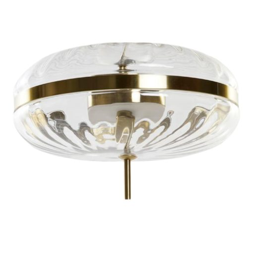 DONEL Lámpara de techo estilo Retro de metal con tulipa de cristal . Encuéntrala en MisterWils. Más de 4000m² de exposición y almacén.
