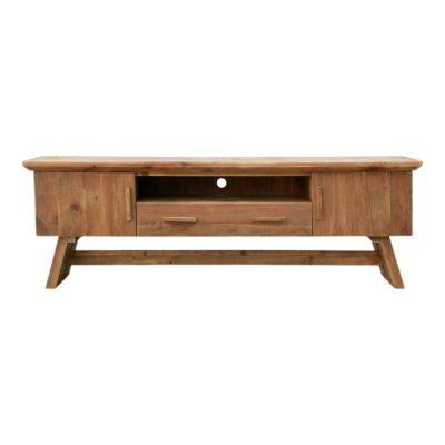 YUKAPI Mueble de TV estilo Rústico Contemporáneo de madera reciclada. Encuéntralo en MisterWils. Más de 4000m² de exposición y almacén.