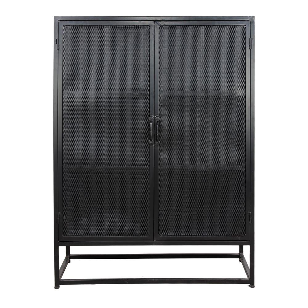 YAKU Mueble tipo buffet con puertas de malla metálica. Encuéntralo en MisterWils. Más de 4000m² de exposición y almacén.