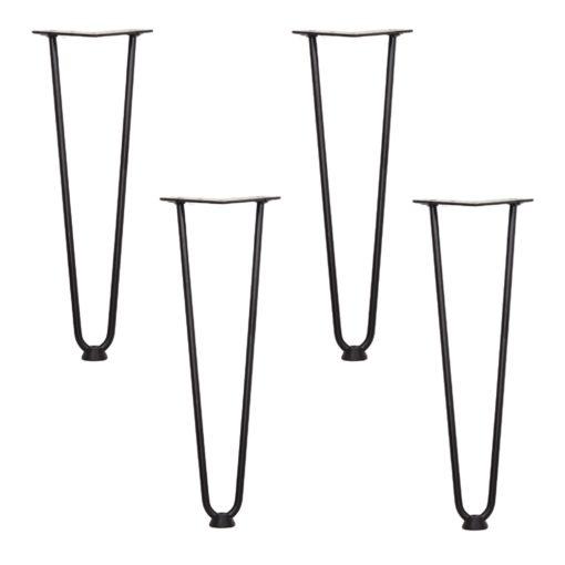 HAIRPIN 40cm 4x Patas de acero para mesa estilo Mid Century. Encuéntralas en MisterWils. Más de 4000m² de exposición y almacén.