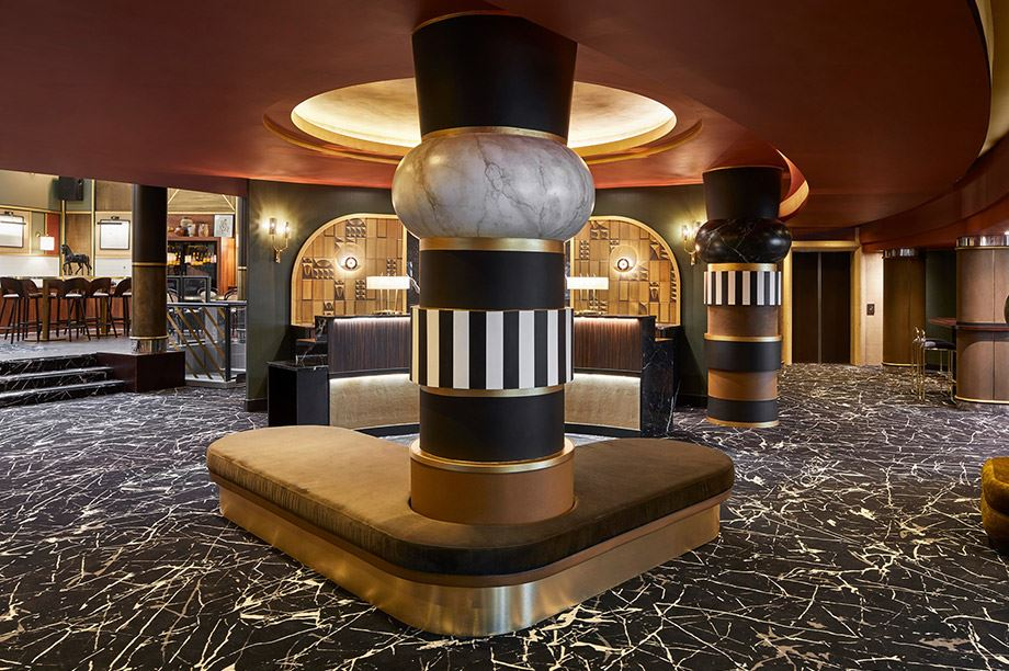 decoración de las zonas comunes del hotel MGallery Nest Paris