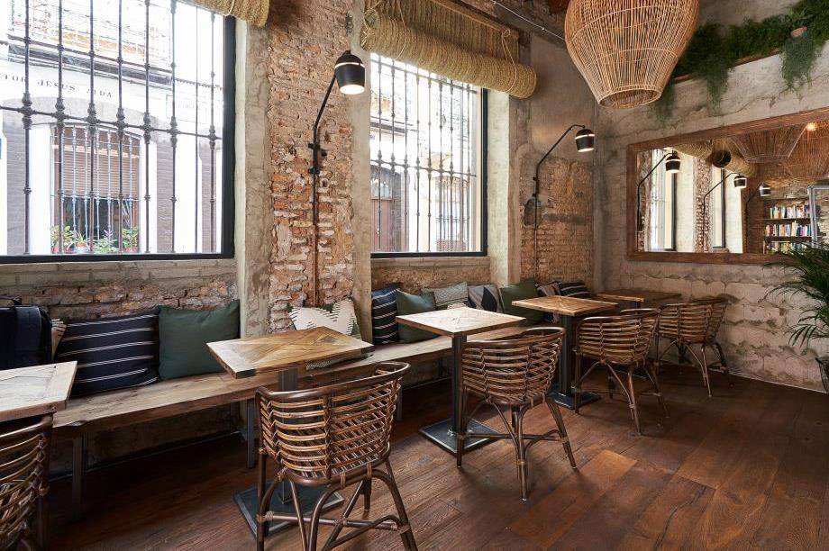 mobiliario contract característico para restaurante
