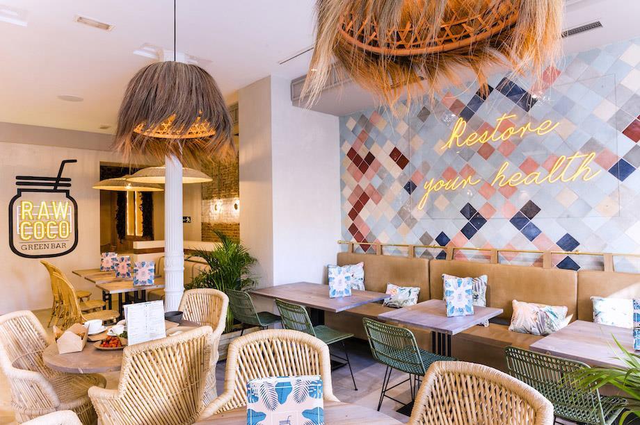 mobiliario contract de diseño en cafetería
