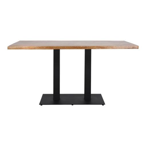 FERRO DOBLE MESA Mesa con pie doble y tapa de madera . Encuéntralo en MisterWils. Más de 4000m² de exposición y almacén.