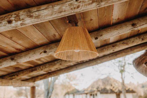 CALVENY Pantalla para lámpara de techo estilo nórdico de fibra de jute. Encuéntrala en MisterWils. Más de 4000m² de exposición y almacén.