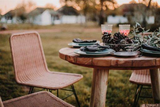silla de exterior HOMELY fabricada en rattán sintético 5