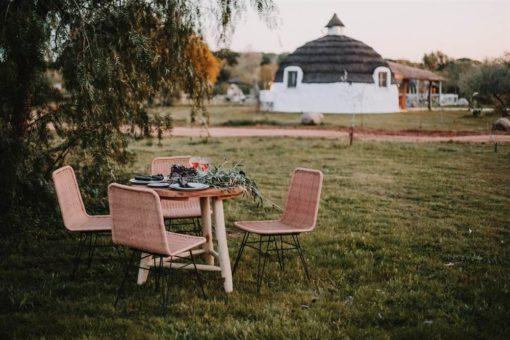 silla de exterior HOMELY fabricada en rattán sintético 4