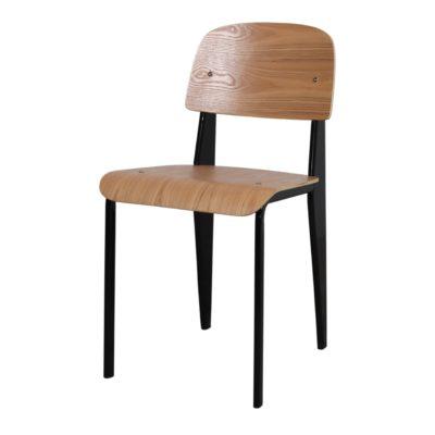 BENDO NEGRA Silla de acero y madera réplica Standard Chair. Encuéntrala en MisterWils. Más de 4000m² de exposición y almacén.