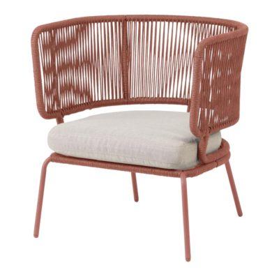 NADIN 1PL Sofá de 1 plaza de acero con asiento de cuerda. Encuéntralo en MisterWils. Más de 4000m² de exposición y almacén.