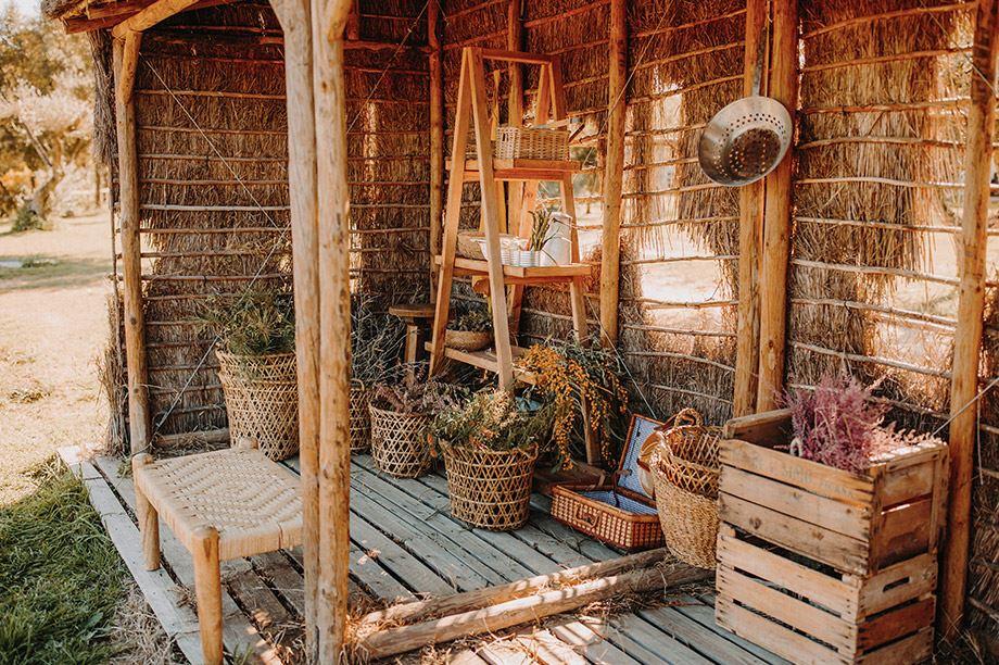 muebles de madera reciclada de jardín