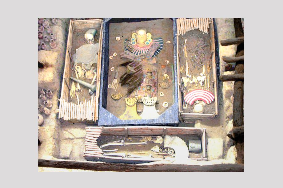 piezas de rejilla en la tumba de Tutankamón