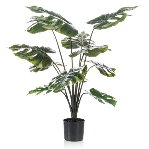 PLANTA ARTIFICIAL DEOCRATIVA MONSTERA con 12 hojas. Encuéntrala en MisterWils. Más de 4000m² de exposición y almacén.