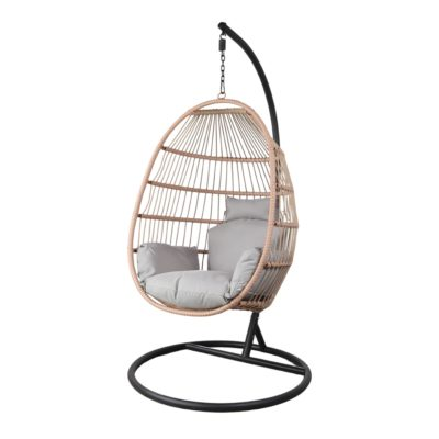 SILLA COLGANTE CLAUDINE de cuerda tipo Egg Chair. Encuéntrala en MisterWils. Más de 4000m² exposición y almacén.1