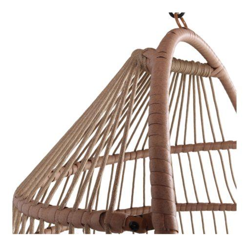 SILLA COLGANTE CLAUDINE de cuerda tipo Egg Chair. Encuéntrala en MisterWils. Más de 4000m² exposición y almacén.4