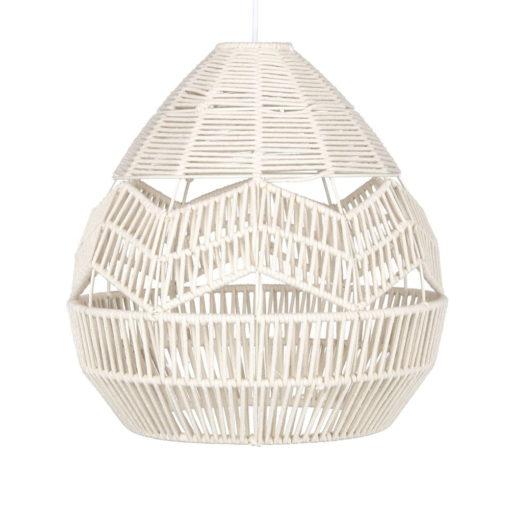 lámpara de techo TAMOK fabricada en cuerda color natural