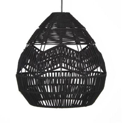 lámpara de techo TAMOK fabricada en cuerda natural color negro