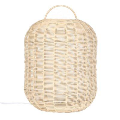 lámpara de mesa YEBRA fabricada en rattan natural