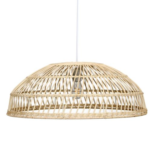 lámpara de techo fabricada en rattán natural