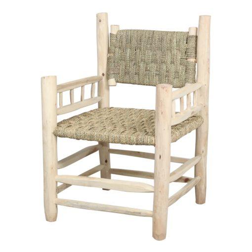 silla de madera y cuerda RODAS vista de 3/4