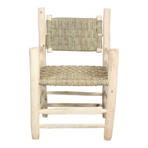 silla de madera y cuerda RODAS vista de frente
