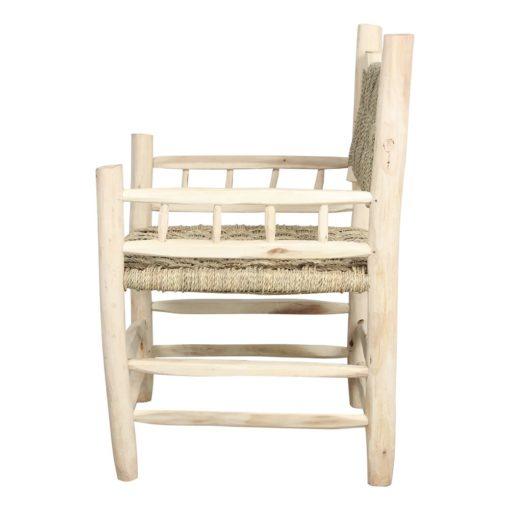 silla de madera y cuerda RODAS vista de perfil