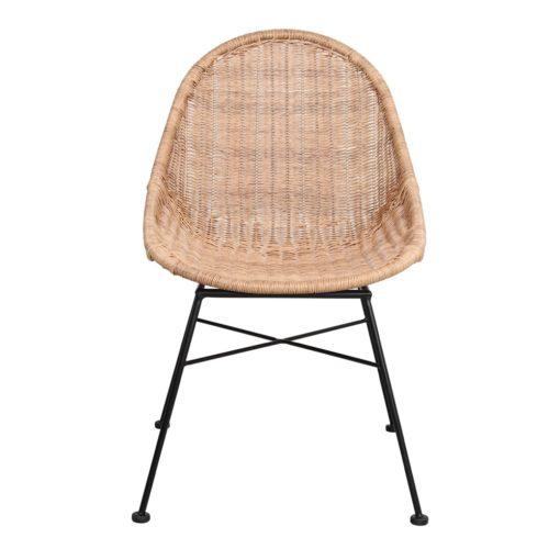 SILLA DE RATTÁN SINTÉTICO DABILY estilo Nórdico. Estructura de acero y asiento de rattan sintético. Apta para exterior. 2